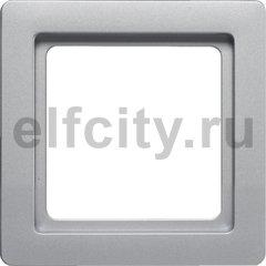 Рамкa, Q.1, 1-местная, цвет: алюминиевый, бархатный лак