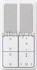 Радиоприемник скрытого монтажа с RDS с динамиком, пластик белый глянцевый