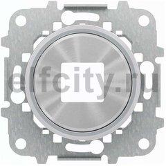 Накладка для механизмов зарядного устройства USB, арт.8185, серия SKY Moon, кольцо хром