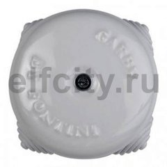 Распаечная коробка, диаметр 72мм, фарфор белый
