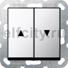 Выключатель управления жалюзи кнопочный, 10 А / 250 В, хром