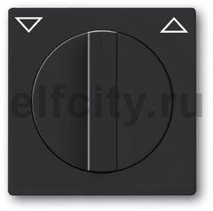 Плата центральная с поворотной ручкой, с маркировкой, для механизма выключателя жалюзи 2712/2713 U и 2722/2723 U, серия solo/future, цвет антрацит