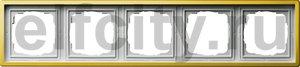 Рамка 5 постов, для горизонтального/вертикального монтажа, пластик под латунь