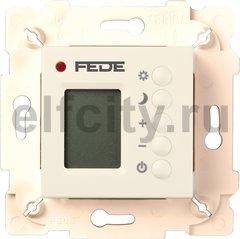 Термостат для электрического подогрева пола 230 В~ 16А , с датчиком температуры воздуха и пола, бежевый