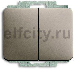 Выключатель двухклавишный, 10 А / 250 В, палладий