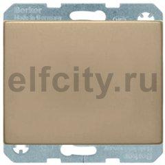 Выключатель одноклавишный, проходной (вкл/выкл с 2-х мест), 10 А / 250 В, металл под золото