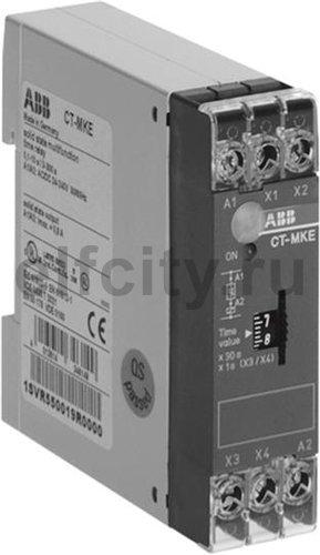 Реле времени CT-MKE п/проводниковое 24-220B AC/DC, (4 функции) 2 временных диапазона 0,1-10с, 3-300, 1К