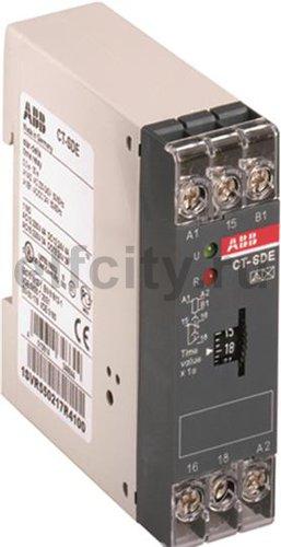 Реле времени CT-SDE (задержка на включение, переключение Y/D) 24 В AC/DC, 220-240В AC (временной диапазон 0.03..30с.) 1НЗ 1ПК