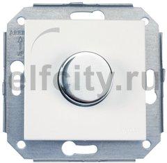 Светорегулятор поворотный 60-500 Вт. для ламп накаливания и галоген., 220В, сталь / белый
