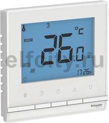 Термостат в сборе срамкой, для электрического подогрева пола 218 В~ 8А , для электрического подогрева пола, белый