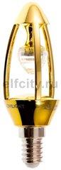 Civilight светодиодная лампа диммируемая, свеча, 7 Вт, 220В, Е14, 470Lm, 270? 3000К (теплый), золото