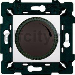 Диммер (светорегулятор) поворотный 40-500 Вт для ламп накаливания и галогенных 220В, графит/белый