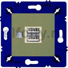 Зарядное устройство USB с двумя выходами, для серии Marco, green olive