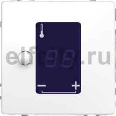 Термостат сенсорный 230 В~ 8А с выносным датчиком, для электрического подогрева пола, белый лотос