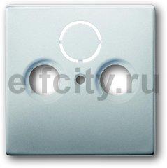 Накладка (центральная плата) для TV-R-SAT розетки, серия pur/сталь