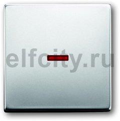 Клавиша для механизма 1-клавишного выключателя/переключателя/кнопки с красной линзой, серия pur/сталь
