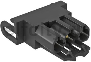 Штекерный адаптер прямой (черный)
