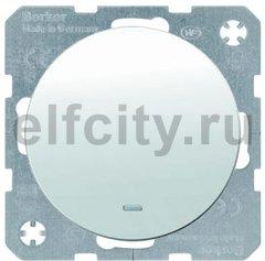 Выключатель одноклавишный с подсветкой, проходной (вкл/выкл с 2-х мест), 10 А / 250 В, полярная белизна