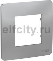 UNICA STUDIO рамка 1-постовая, алюминий