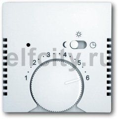 Накладка (центральная плата) для терморегулятора 1095 U/UF-507, 1096 U, Basic 55, альпийский белый