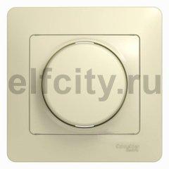 Диммер (светорегулятор) поворотный 60-300 Вт для ламп накаливания и галогенных 220В, бежевый