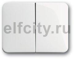 Клавиша для механизма 2-клавишных выключателей/переключателей/кнопок, серия alpha nea, цвет белый глянцевый