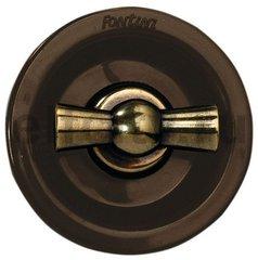 Выключатель поворотный для управления жалюзи, 10 А / 250 В, бронза / коричневый