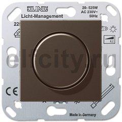 Диммер (светорегулятор) поворотный 20-525 Вт для ламп накаливания и галогенных 220В, мокко