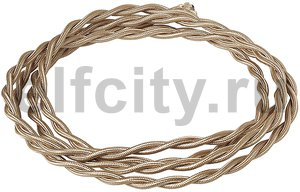 Ретро кабель плетеный 3х1,5 карамель