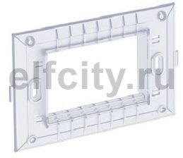 Суппорт для монтажной коробки для устройств 1,5xModul45 115x74 мм (прозрачная)