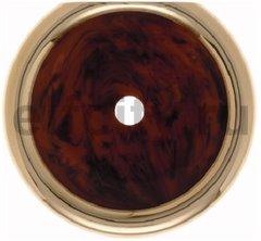 Рамка оконечная для поворотных выключателей, горизонтальный/вертикальный монтаж, пластик под красное дерево/золото 24 карата
