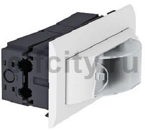 Монтажный блок IKR для установки доп. устройств 86x170x95 мм (белый)