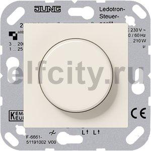 Диммер (светорегулятор) поворотный для диммируемых светодиодных ламп 220B, с защитой от перегрева, слоновая кость
