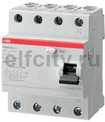 Выключатель дифференциального тока (ВДТ) 4P FH204AC-25/0,3