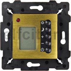 Термостат для электрического подогрева пола 230 В~ 16А , с датчиком температуры воздуха и пола, бронза светлая/черный