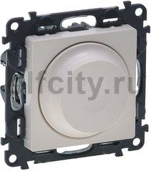 Диммер (светорегулятор) поворотный 5-75 Вт для светодиодных диммируемых ламп и 5-300 Вт для ламп накаливания, слоновая кость