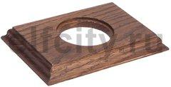 Рамка 1 пост для элементов внутреннего монтажа (прямоугольник), дуб коричневый