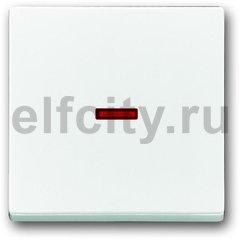 Клавиша для механизма 1-клавишного выключателя/переключателя/кнопки с красной линзой, серия solo/future, цвет davos/альпийский белый
