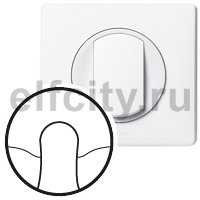Лицевая панель - Программа Celiane - кабельный вывод Кат. № 0 671 81 - белый