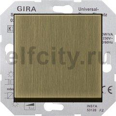 Диммер (светорегулятор) клавишный универсальный 50-420 Вт для ламп накаливания и низковольтных галогенных ламп, бронза