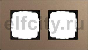 Рамка 2 поста, для горизонтального/вертикального монтажа, светло-коричневый