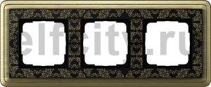 Рамка 3 поста, для горизонтального/вертикального монтажа, бронза/черный