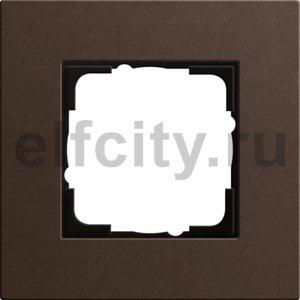 Рамка 1 пост, коричневый