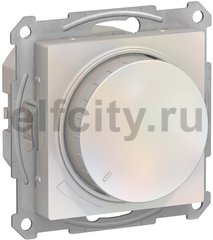 Диммер (светорегулятор) LED, поворотно-нажимной 20-315 Вт, для светодиодных ламп и других типов, универсальный, 220В, жемчуг