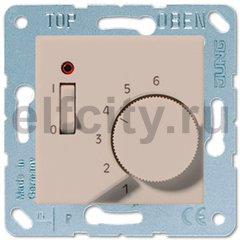 Термостат 230 В~ 10А с выносным датчиком, для электрического подогрева пола, шампань