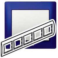 Рамка 5 постов, для горизонтального монтажа, синий металл