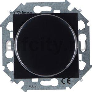 Диммер (светорегулятор) поворотно-нажимной для диммируемых LED ламп 5-215 Вт, 230 В, черный