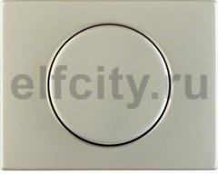 Центральная панель с регулирующей кнопкой для поворотного диммера цвет: нержавеющая сталь Berker K.5
