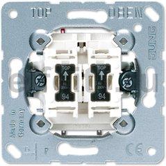 Выключатель 10AX 250V сдвоенный с двумя лампочками