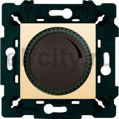 Диммер (светорегулятор) поворотный 40-500 Вт для ламп накаливания и галогенных 220В, графит/бежевый